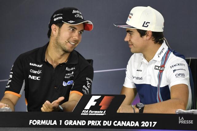 Sergio Perez et Lance Stroll ont participé à... (Photo Bernard Brault, La Presse)