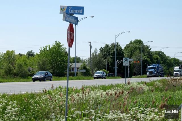 La Ville de Granby veut aménager un corridor... (Alain Dion, La Voix de l'Est)