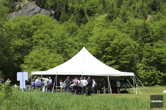 Le lancement de la saison touristique du Bas-Saguenay... (Photo Le Quotidien, Yohann Gasse)