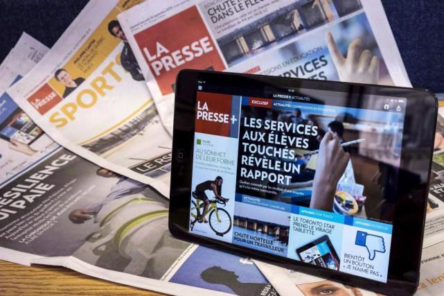 La Presse a reçu le prix de l'innovation... (PhotoPaul Chiasson, Archives La Presse canadienne)
