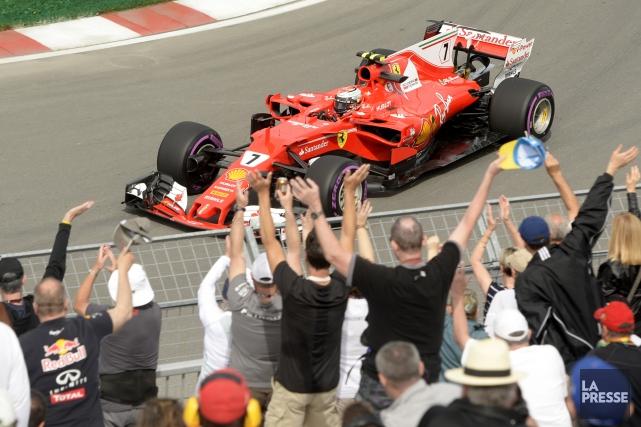 Kimi Raikkonena été le seul à franchir la... (Photo Bernard Brault, La Presse)