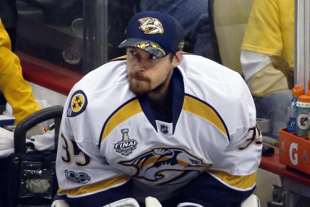 Le gardien des Predators Pekka Rinnea été remplacé... (Photo Gene J. Puskar, AP)