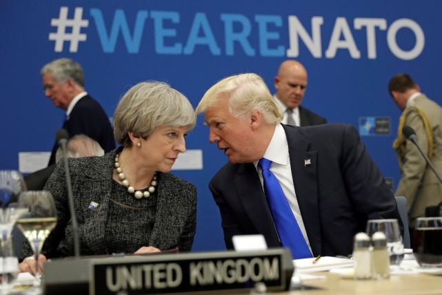 Le président américain Donald Trump et la première... (Photo Matt Dunham, REUTERS)