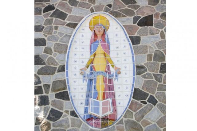 La murale Immaculée-Conception située sur un mur du... (fournie)