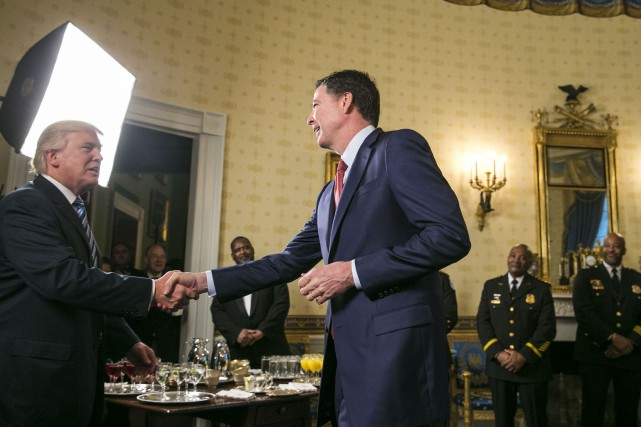 Rencontre entre Donald Trump et James Comey le... (Photo Al Drago, archives The New York Times)