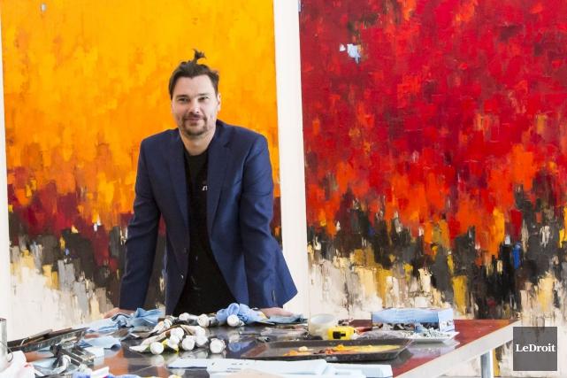 L'artiste Dominik Sokolowski... (Simon Séguin-Bertrand, Le Droit)