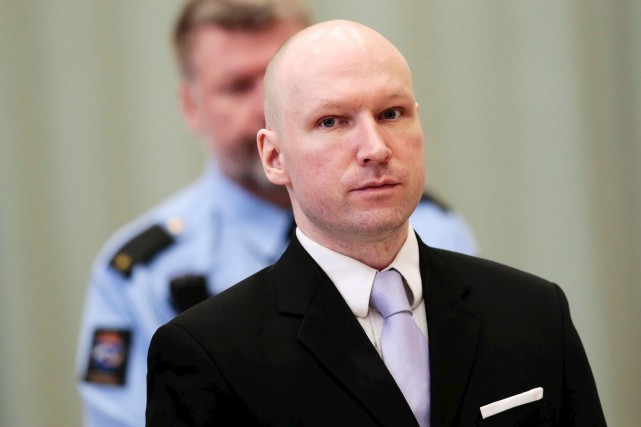 Anders Behring Breivik, qui a tué 77 personnes... (Archives AFP, Lise Aaserud)