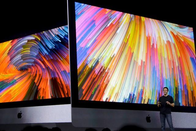 Le dévoilement aux médias du nouveau iMac Pro... (Photo courtoisie)