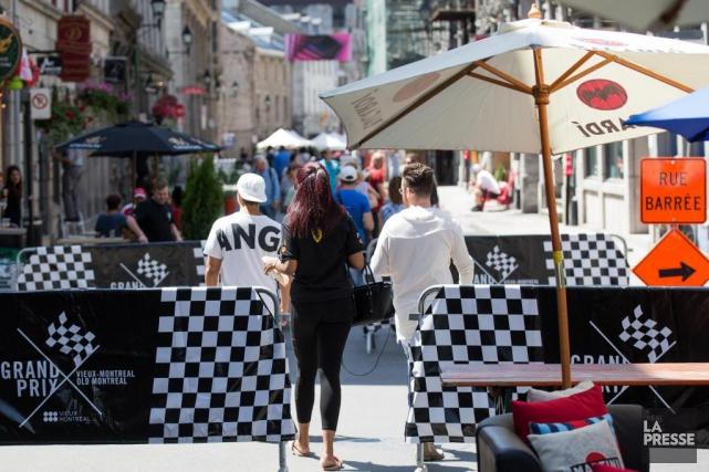 Les rues Crescent, Peel et le boulevard De... (La Presse, Simon Giroux)