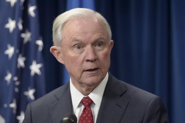 Le ministre américain de la Justice Jeff Sessions... (Archives AP, Susan Walsh)