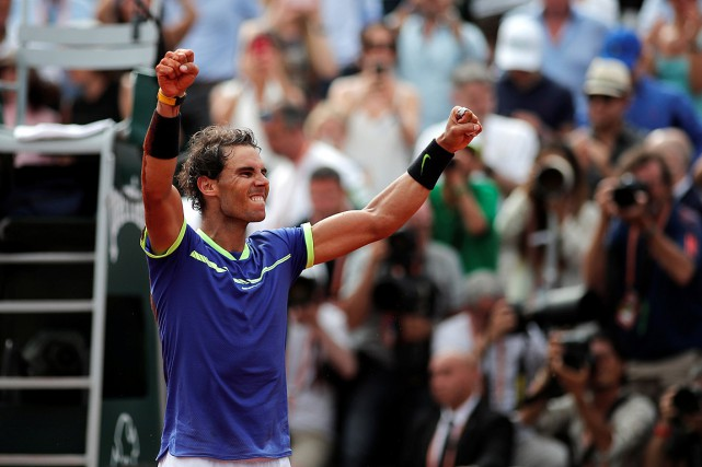 Rafael Nadalest devenu le seul joueur de l'histoire... (Photo Benoit Tessier, REUTERS)
