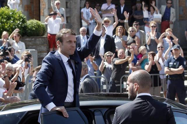 La République En Marche d'Emmanuel Macron a reçu... (PHOTO AP)