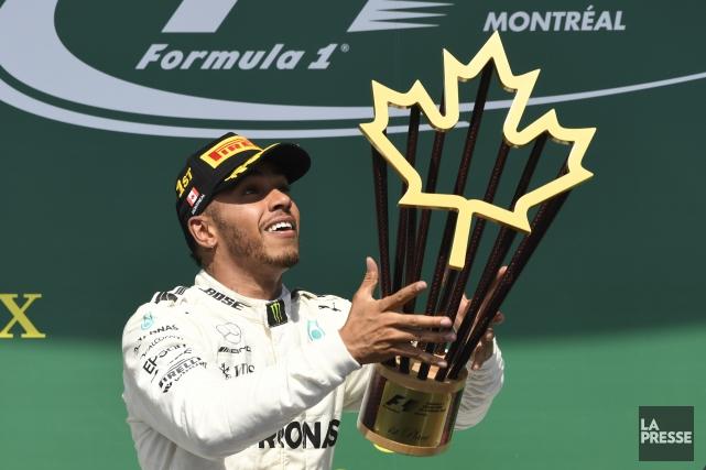 Lewis Hamilton a récolté sa sixième victoire au... (PHOTO BERNARD BRAULT, LA PRESSE)