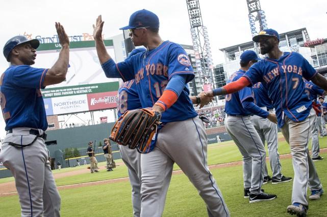 Victoire des Mets 2-1 contre les Braves... (Photo John Amis, AP)