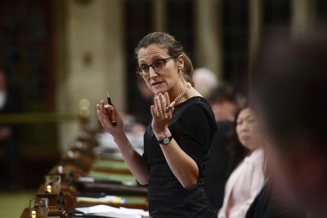 La ministre des Affaires étrangères du Canada, Chrystia... (La Presse canadienne, Sean Kilpatrick)