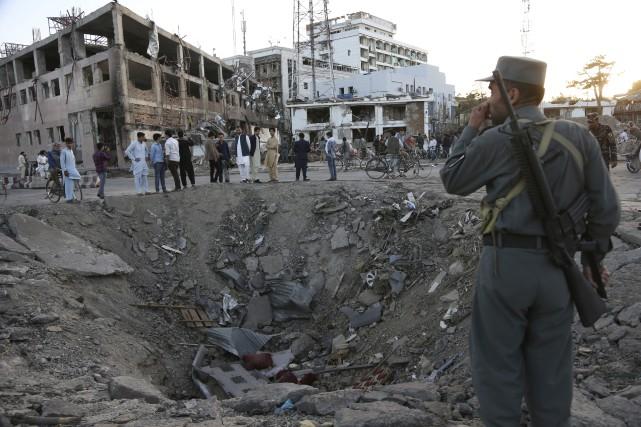 Le gouvernement afghan a pointé du doigt le... (AP)