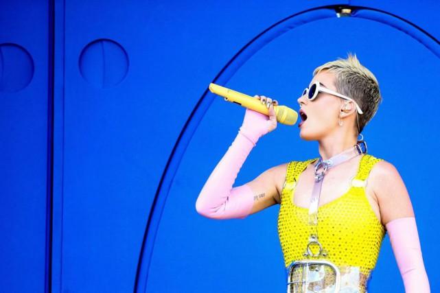 Katy Perry lors d'un spectacle le12mai dernier.... (PHOTO RICH FURY, ARCHIVES GETTY IMAGES/AGENCE FRANCE-PRESSE)