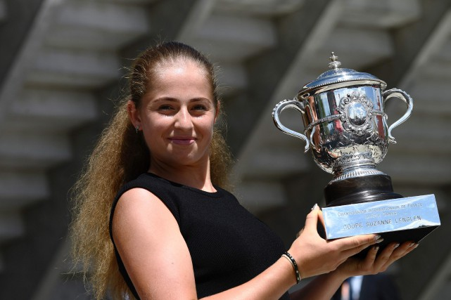 Jelena Ostapenko... (Photo CHRISTOPHE SIMON, Agence France-Presse)