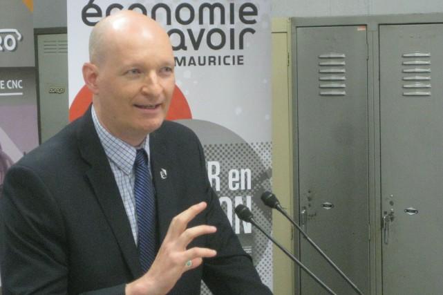 Simon Charlebois, président d'Économie du savoir Mauricie.... (Photo: Marc Rochette)