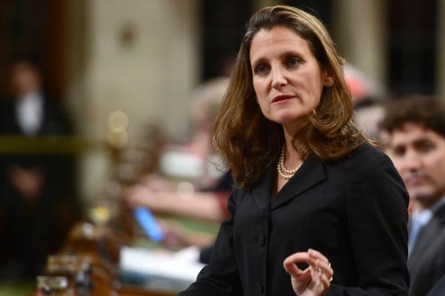 Selon Chrystia Freeland, ministre fédérale des Affaires étrangères,... (ARCHIVES LA PRESSE CANADIENNE)