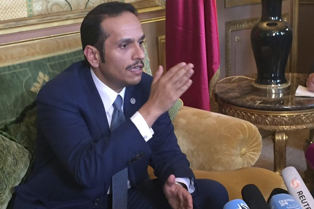 Le ministre qatari des Affaires étrangères cheikh Mohammad... (Photo Nicolas Garriga, Associated Press)