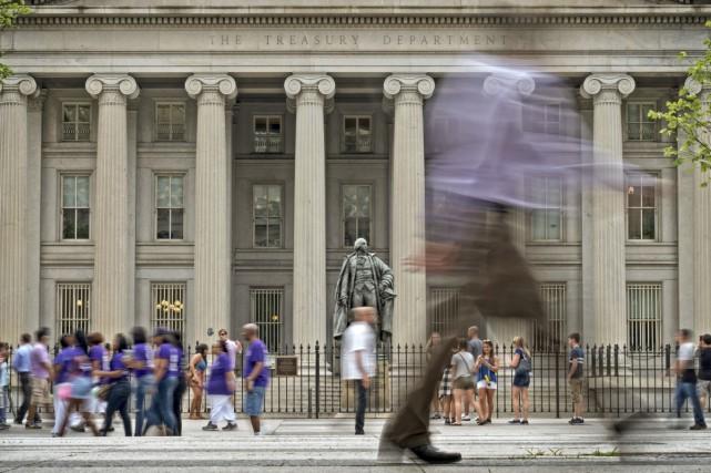Le budget des États-Unis a inscrit en mai un déficit en forte hausse, a indiqué... (PHOTO ARCHIVES AP)