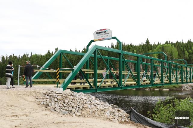 L'infrastructure de 234 pieds de longueur, fabriquée en... (Le Quotidien, Yohann Gasse)