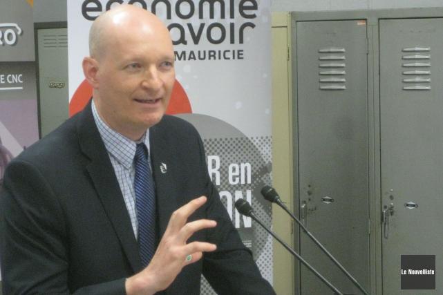 Le président d'Économie du savoir Mauricie, Simon Charlebois,... (Marc Rochette, Le Nouvelliste)