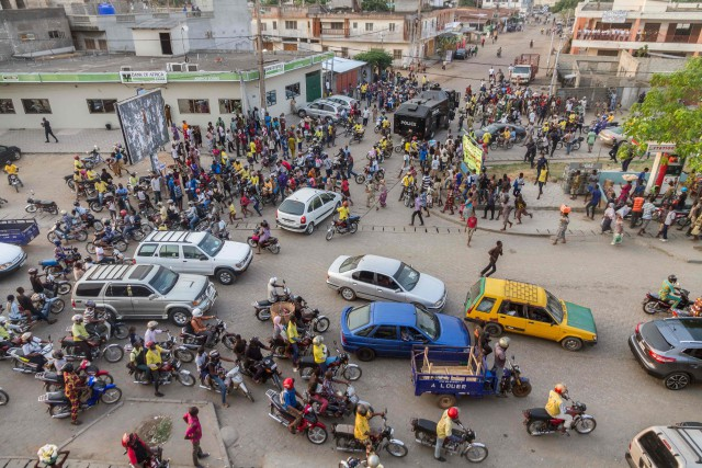 À Cotonou, capitale économique du Bénin, lorsque les... (PHOTO YANICK FOLLY, AFP)