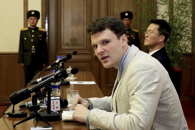 Otto Warmbier a été condamné à 15 années... (AP, Kim Kwang Hyon)