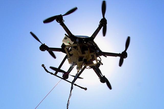 Des drones peuvent être rapidement activés par l'opérateur... (AP, Nati Harnik)