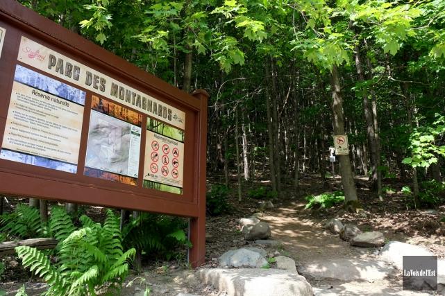 Le parc des Montagnards est maintenant accessible à... (Alain Dion, La Voix de l'Est)