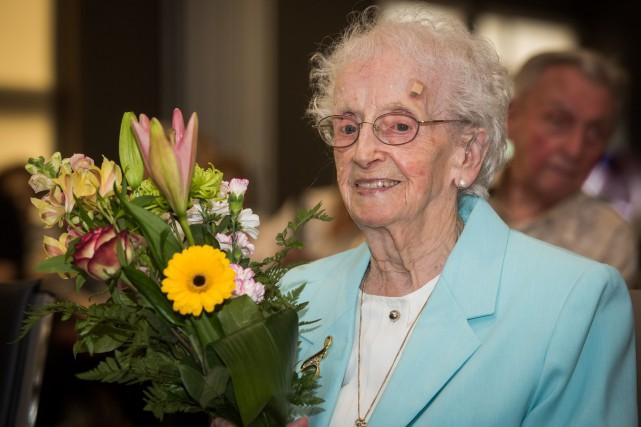 Pauline Bergeron a célébré ses 107 ans lundi... (François Gervais, Le Nouvelliste)