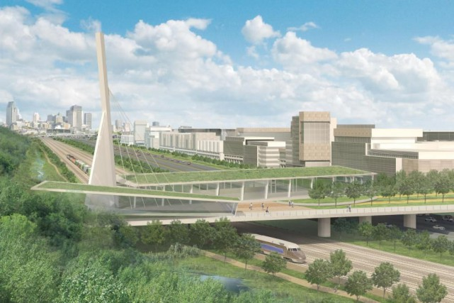 «Le projet de reconstruction de l'échangeur Turcot qu'on... (ILLUSTRATION FOURNIE PAR LE MINISTÈRE DES TRANSPORTS)