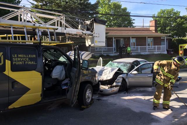Une femme a été blessée mercredi matin lors d'une collision frontale à basse...