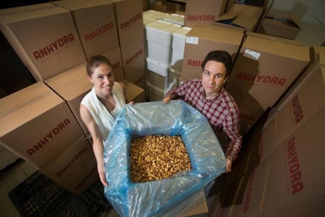 Marie-Eve Gaudet et Martin Gibeault, fondateurs d'Anhydra... (photo ivanoh demers, la presse)