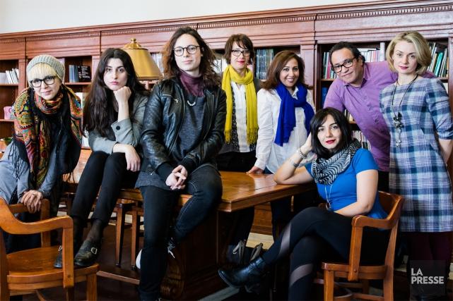 De gauche à droite: Nora Zarkandi, Ayam Amy... (PHOTO ÉDOUARD PLANTE-FRÉCHETTE, LA PRESSE)