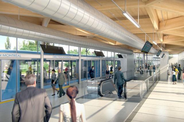 Le Réseau électrique métropolitain est un projet de... (IMAGE FOURNIE PAR CDPQ)