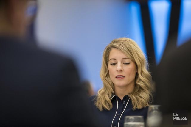 La ministre du Patrimoine canadien, Mélanie Joly, a... (Archives, La Presse)