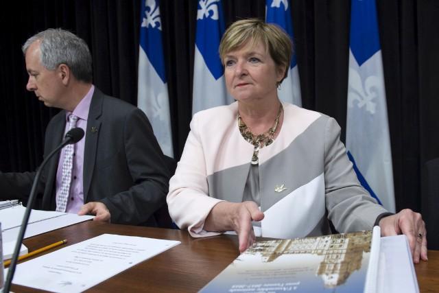 La vérificatrice générale Guylaine Leclerc a présenté, mercredi,... (La Presse canadienne, Jacques Boissinot)