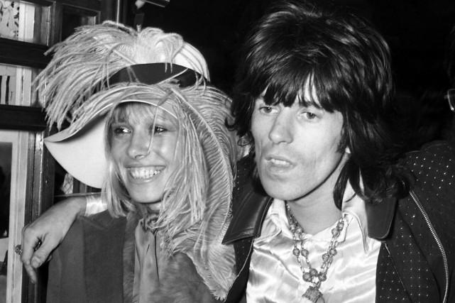 Anita Pallenberg et Keith Richards à la première... (ARCHIVES AP)