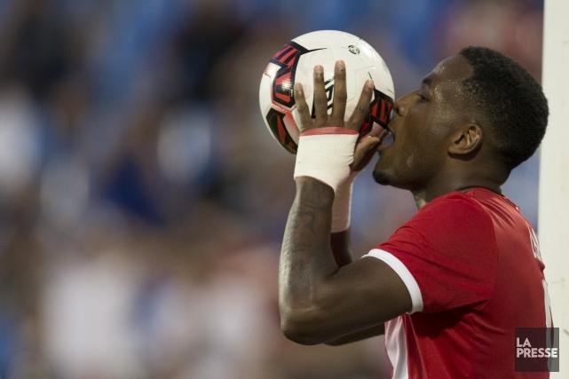 L'attaquant Cyle Larinfaisait partie de la formation partante... (Photo Olivier Jean, La Presse)