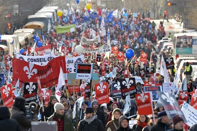 La Coalition pour le droit de manifester à... (Photothèque Le Soleil, Yan Doublet)