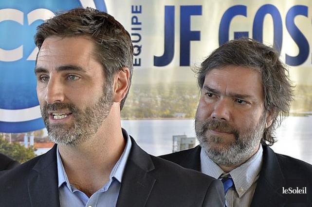 Frédérick Têtu (à droite), lors de la présentation... (Photothèque Le Soleil, Pascal Ratthé)