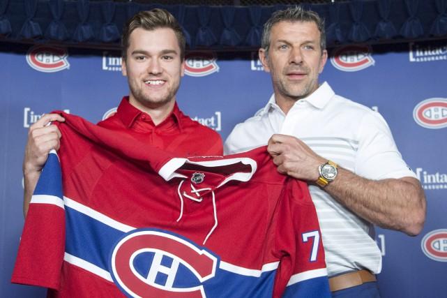 Le nouveau joueur du Canadien Jonathan Drouin a... (La Presse canadienne, Ryan Remiorz)