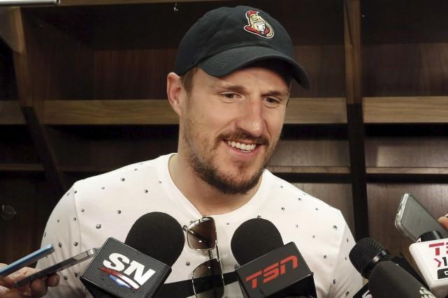 Le défenseur Dion Phaneuf veut rester à Ottawa... (La Presse canadienne)
