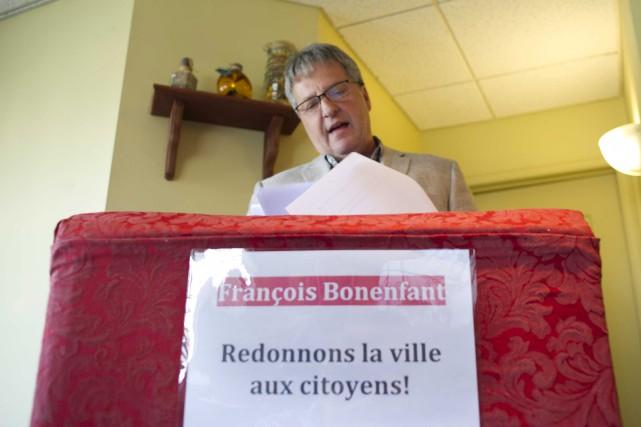 François Bonenfant a annoncé sa candidature à la... (Sylvain Mayer)
