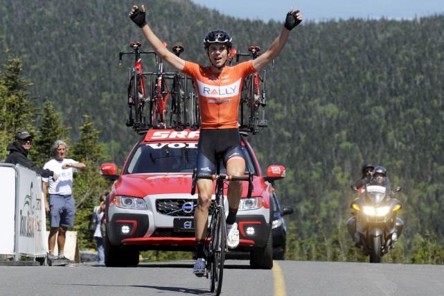 Matteo Dal-Cin, de l'équipe Rally, a semé son... (fournie par le Tour de Beauce, Brian Black Hodes)