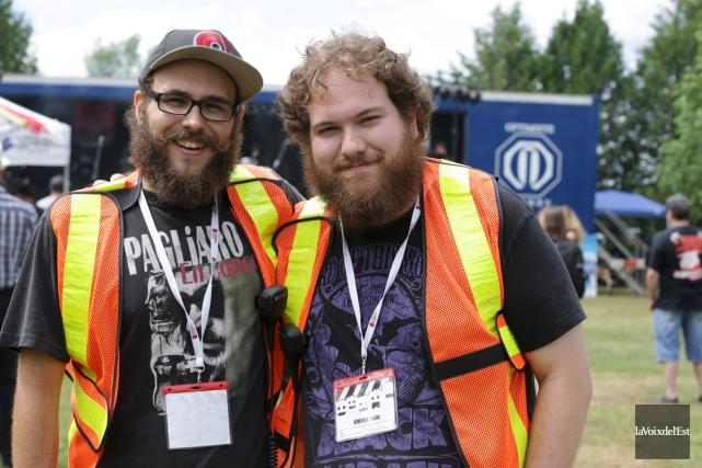 Les promoteurs du festival, Alex Saint-Martin et Félix... (Catherine Trudeau, archives La Voix de l'Est)