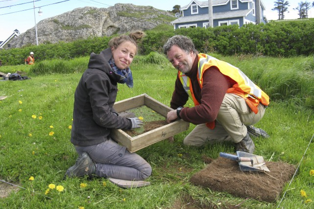 Les archéologues de la firme Ethnoscop, Laurence Bolduc... (collaboration spéciale Geneviève Gélinas)
